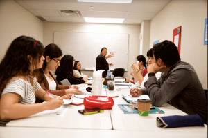 Mentora Language Academy Toronto students learn in small class sizes.